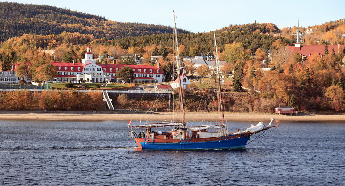 Visit Tadoussac during a road trip in Quebec