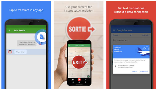 Translation apps like Google Translate