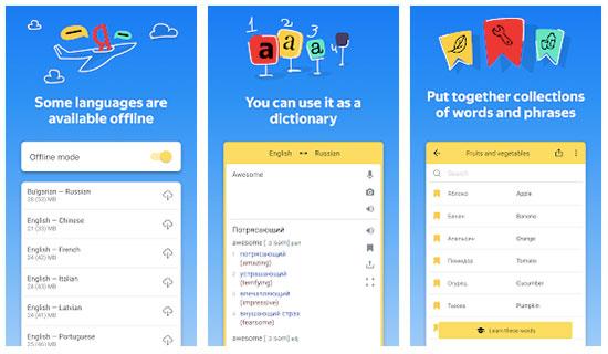Yandex Translate is a popular translation app
